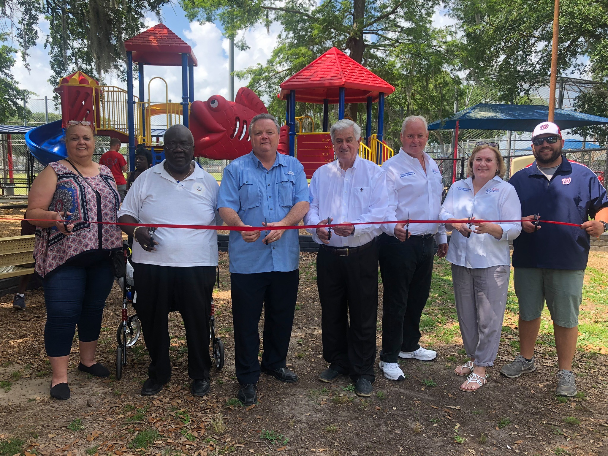 Dedication of Catfish Bourgeois Playground Equipment       May 18, 2019