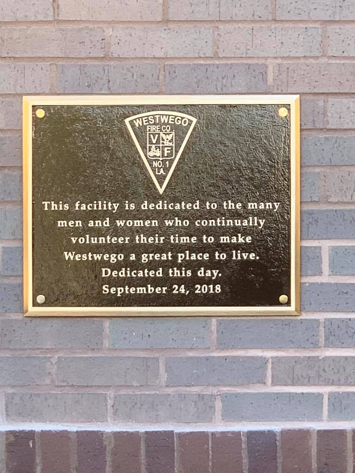 Dedication Plaque for Station 91